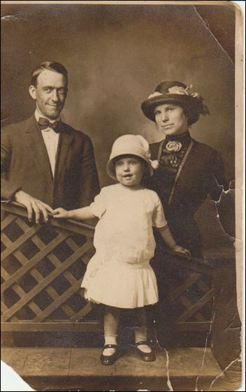 Mother as a young child with her parents