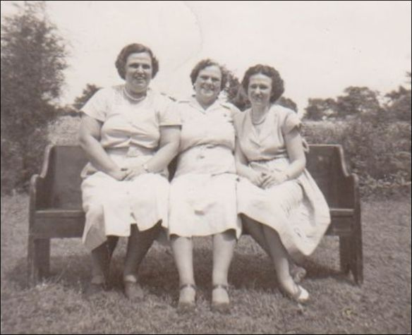 Mother, Dooley and Aunt Mildred at a Family Reunion 1949